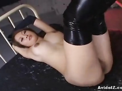 Astonishing Asian babe is being pounded from behind