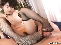 Sweetest sex in doggy style pose with a skillful Japanese