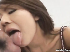 Teen sliding her panty down and sucking the rod
