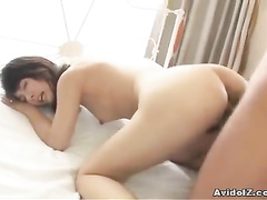 Fat member is getting stuck inside the ass of Asian