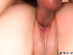 Girl with the nude boobs gets Asian cunt fucked