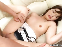 Girl pleasing rods with oral, handjob and nub fuck