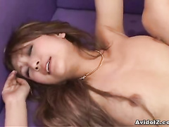 The horniest Asian cunt is squeezing cock inside