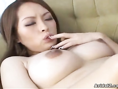 Asian lesbian action with licking and fingering