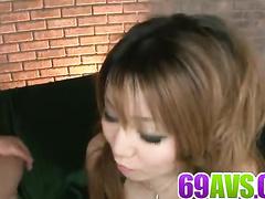 Asian hairy pussy on rock hard cock closeups