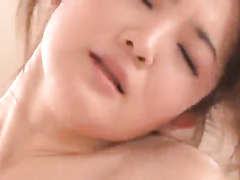 Hottest Japanese chick is slowing sucking a hard dick