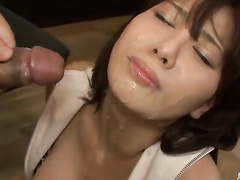 Asian dudes feeding young lover with the sperm