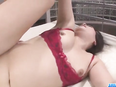 Two guys ripping babe's lingerie off and fucking