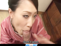 Japanese milf enjoys sucking huge dick and gets her pussy licked off