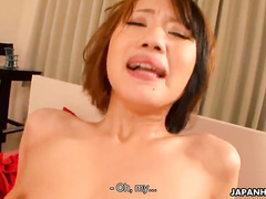 Very Passionate Japanese cutie is getting impaled in her tight snatch