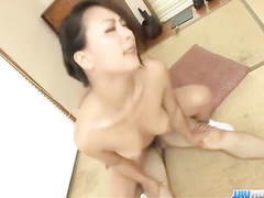 Slender Japanese milf gets hotly excited from nipples pinching