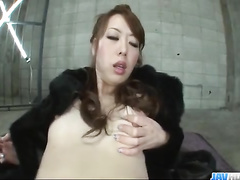 Japanese slut gets undressed and passionately fucked in hot poses