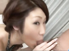 Sweetie Japanese babe got her pussy fondled and fingered before getting fucked hard