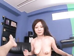 Precious Japanese babe gets her ass excitingly fondled