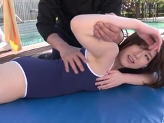 Hungry trainer hotly fucks his student babe
