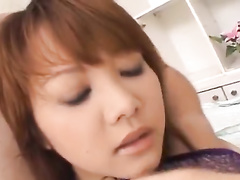 Exciting young brunette is hotly exciting from fondling by two fuckers