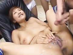 Sexy young Asian beauty is excitingly fondles with boyfriend