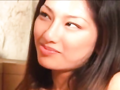 Amazingly sexy cute Asian chick is taking hot bath with mature dude