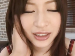 Wonderful Asian babe is sucking tight dick