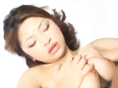 Young Japanese chick gets undressed and hotly fucked by boyfriend