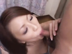 Sexy Asian girl is doing her best on sucking dick