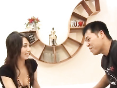 Attractive Asian chick gets seduced and enjoys hardcore fuck