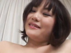Japanese dude undresses young girlfriend and masturbates her pussy