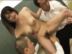 Exciting sexy Japanese teacher is getting fucked in classroom