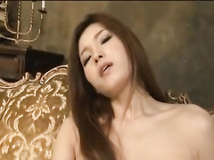 Amazingly sexy shaped Japanese girl is hotly masturbating