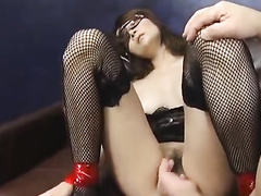 Small boobed Asian cutie got tied up and fingered