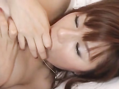 Asian young chick gets excited with cunnilingus