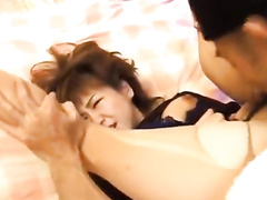 Handsome guy fondles horny chick before licking her pussy