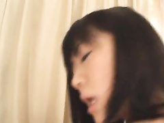 Slutty Asian chick is hotly sucking two dicks