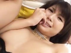 Asian babe enjoys cunnilingus before having hardcore