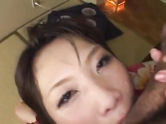 Sexy Japanese milf is being pleasantly fucked by two dudes