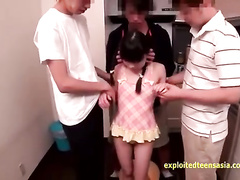 Beauty Japanese teen with sexy small boobies got fucked hard by adult prick