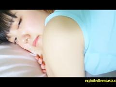 Steaming sexy Japanese teen Kurumi Hotta enjoys tender massage and pussy stroking